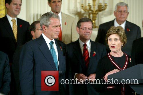 Laura Bush and George W. Bush 3