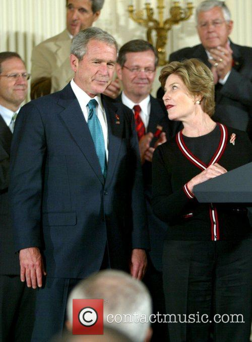 Laura Bush and George W. Bush 5