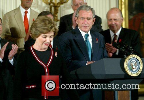 Laura Bush and George W. Bush 4