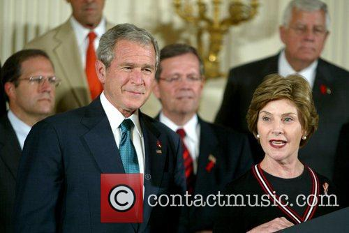 Laura Bush and George W. Bush 7