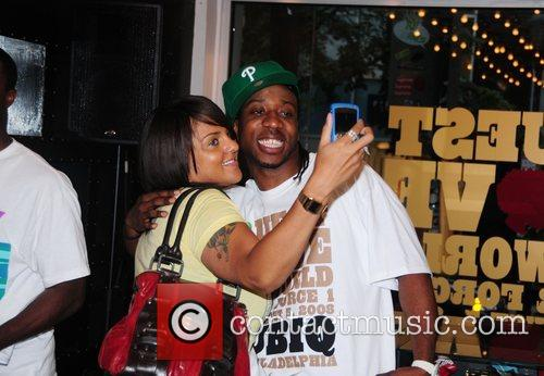 Marsha Ambrosius from Floetry and Frank Knuckles of...