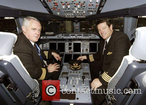 Qantas welcomes its first A380 jet to Australia....