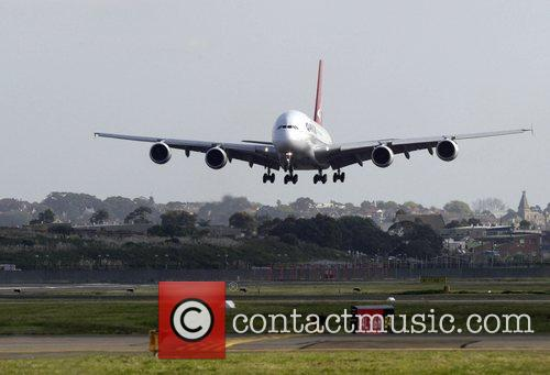 Qantas Welcomes Its First A380 Jet To Australia. The Aircraft 3