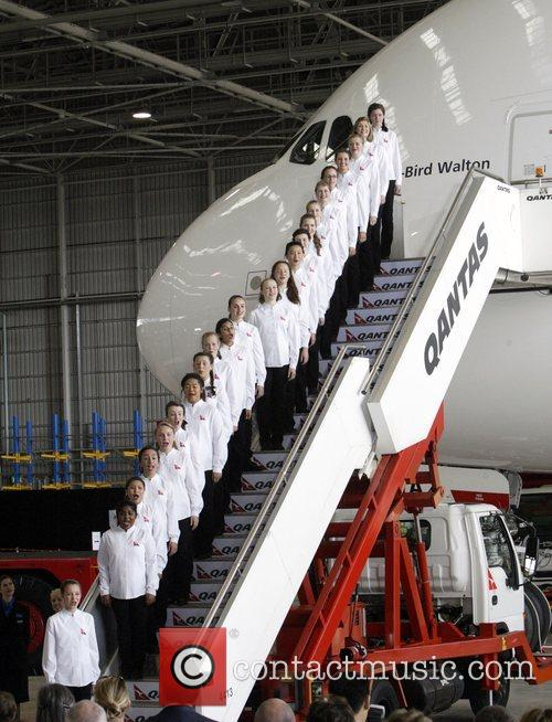 Qantas Welcomes Its First A380 Jet To Australia. The Aircraft 9