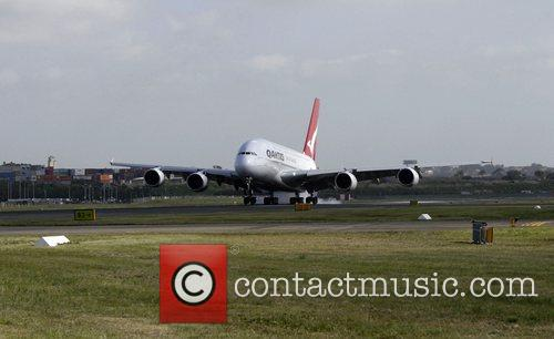 Qantas Welcomes Its First A380 Jet To Australia. The Aircraft 4