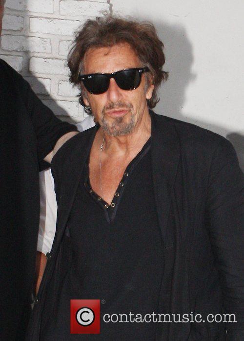 Al Pacino leaves Taverna Tony in Malibu Los...