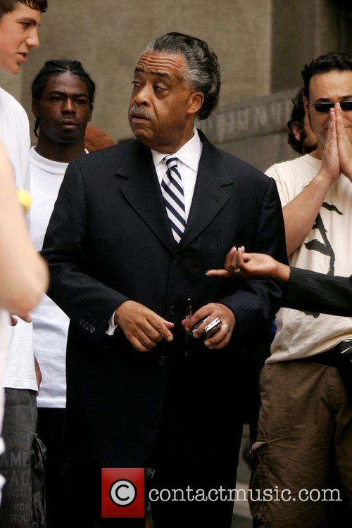 Al Sharpton leaves court after attending the disorderly...
