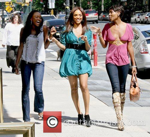 And friends during a taping session of BET's...