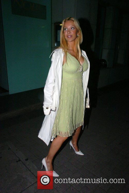 Alicia Douvall leaving Nobu after dinner with friends...