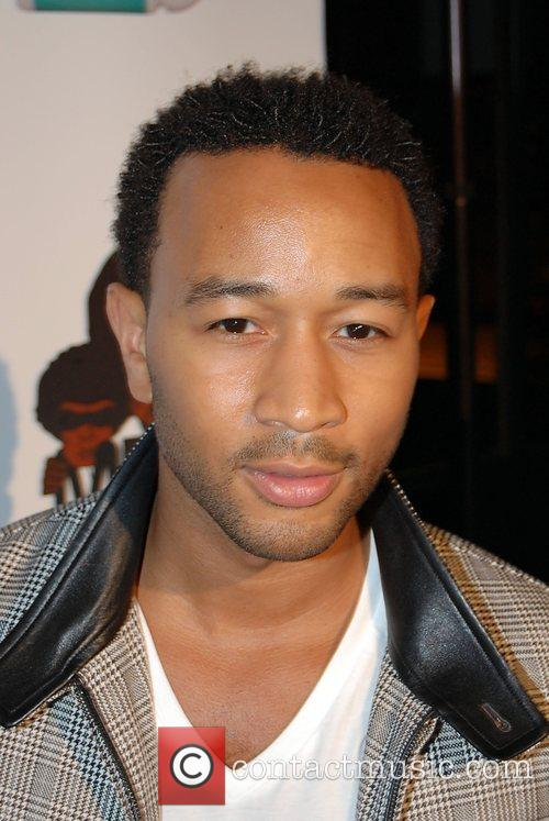 John Legend Alicia Keys after show party at...