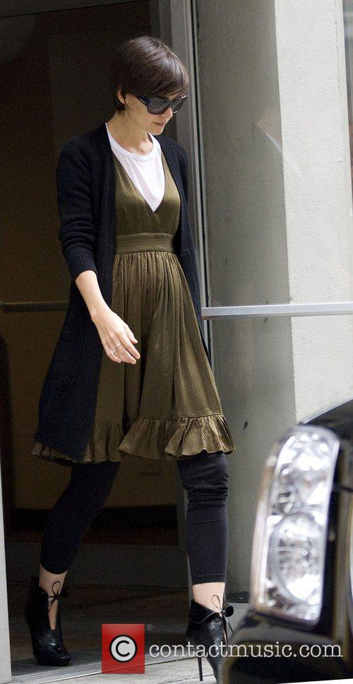 Katie Holmes at the rehearsals for Broadway play...