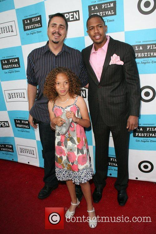 Nick Cannon, Director Neil Abramson and Erika Glock 6