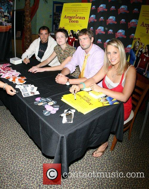 The cast of 'American Teen' signing at Planet...