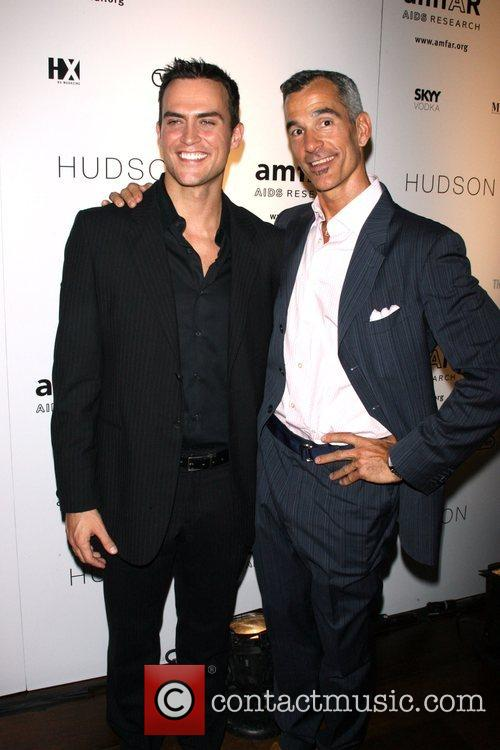 Cheyenne Jackson and Jerry Mitchel AMFAR's ninth annual...