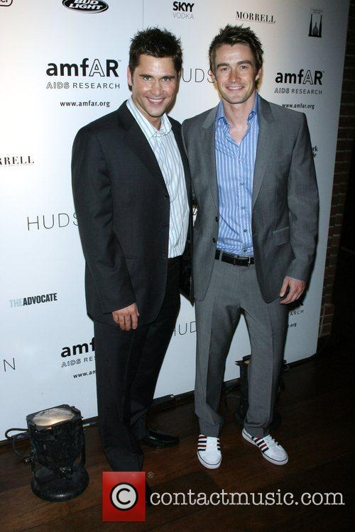 Jack Machenroth and Robert Buckley AMFAR's ninth annual...