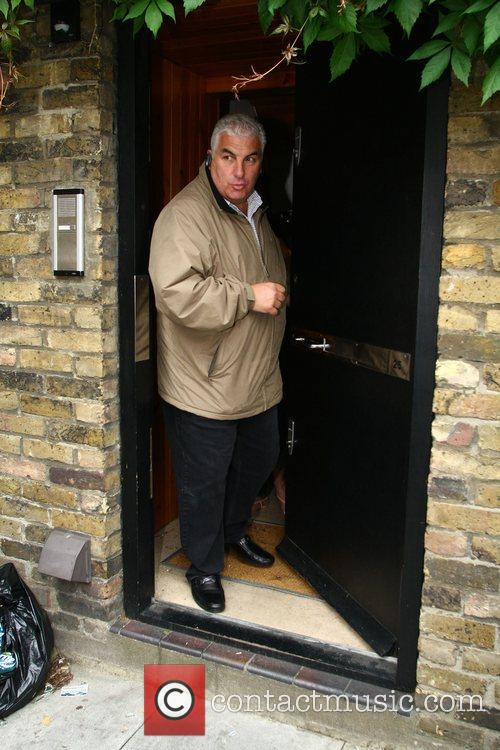 Mitch Winehouse leaving Amy's house London, England