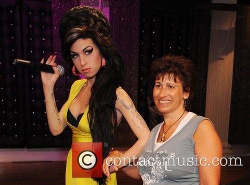 Janis Winehouse Amy Winehouse waxwork unveiling held at...