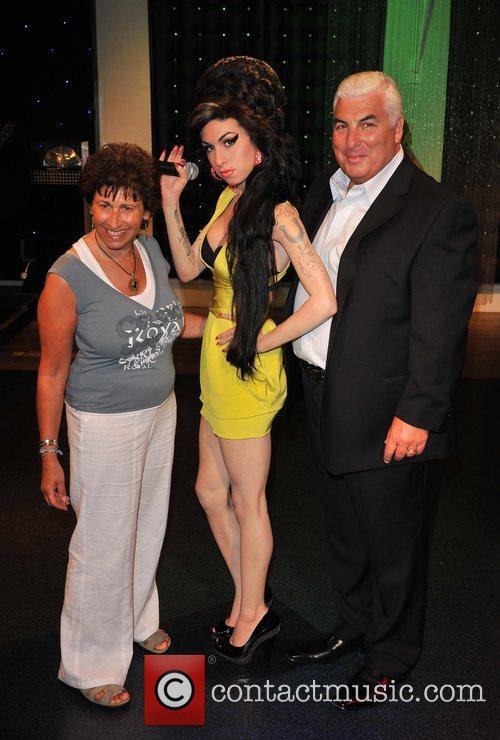 Mitch Winehouse and Janis Winehouse Amy Winehouse waxwork...