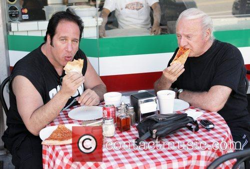 Andrew Dice Clay eating lunch with a friend...