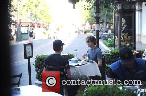 Andy Dick having lunch at the Farm in...