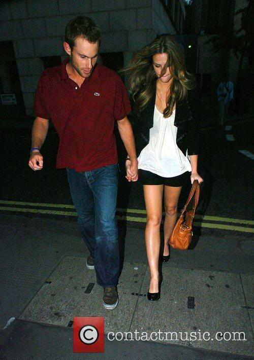Andy Roddick and Brooklyn Decker leaving Nobu restaurant...