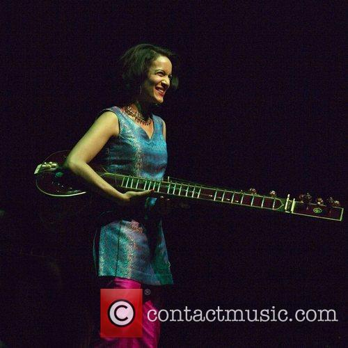 Performing live with the with the Anoushka Shankar...