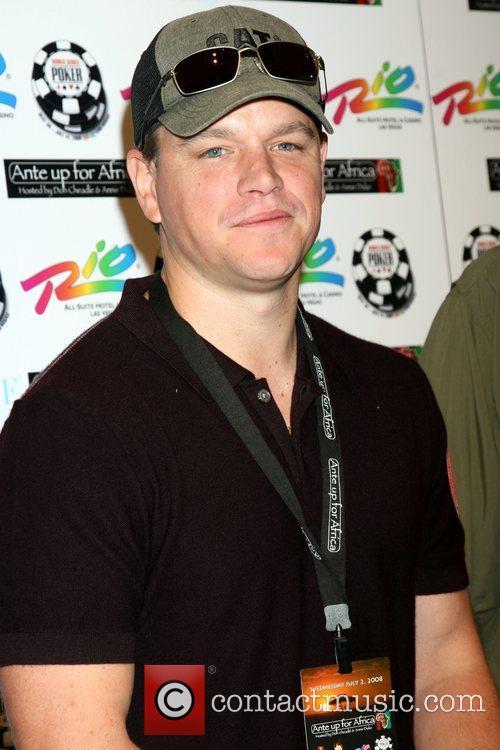 Matt Damon 'Ante up for Africa' Poker Tournament...