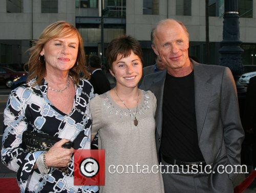 Amy Madigan, Lily Harris and Ed Harris