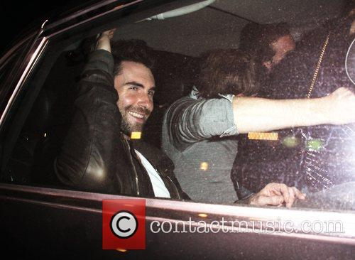 Adam Levine leaving Apple Bar Los Angeles, California