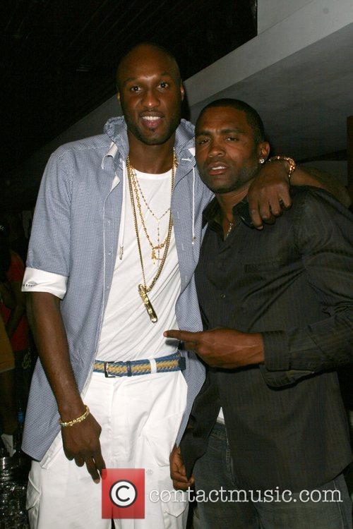 Lamar Odom and Cuttino Mobley at Area nightclub...