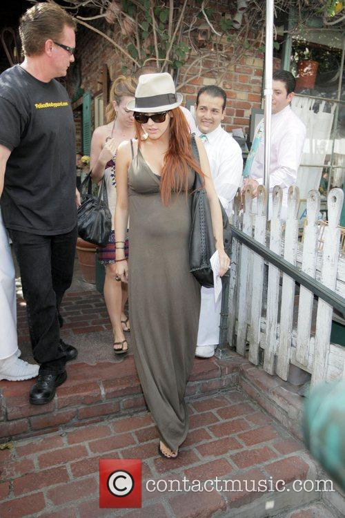 Ashlee Simpson at The Ivy on Robertson Blvd....
