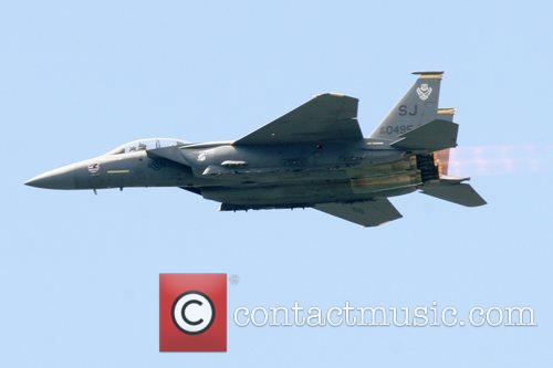 USAF F-15E Strike Eagle  performing at the...