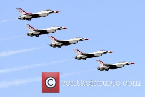 Air Demonstration Squadron performing at the 2008 Atlantic...
