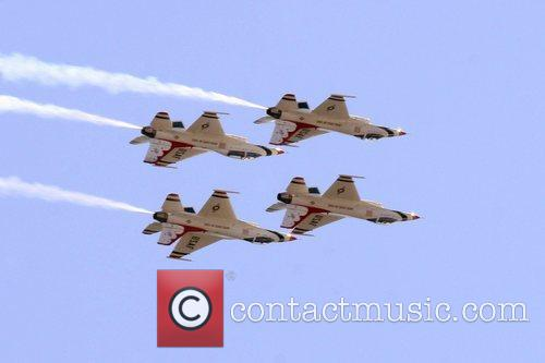 USAF Thunderbirds Air Demonstration Squadron performing at the...