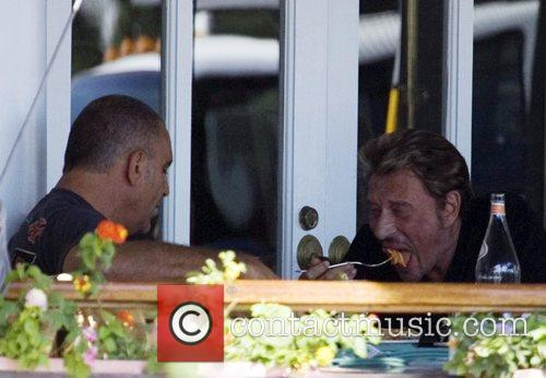 Christian Audigier and Johnny Hallyday have lunch at...