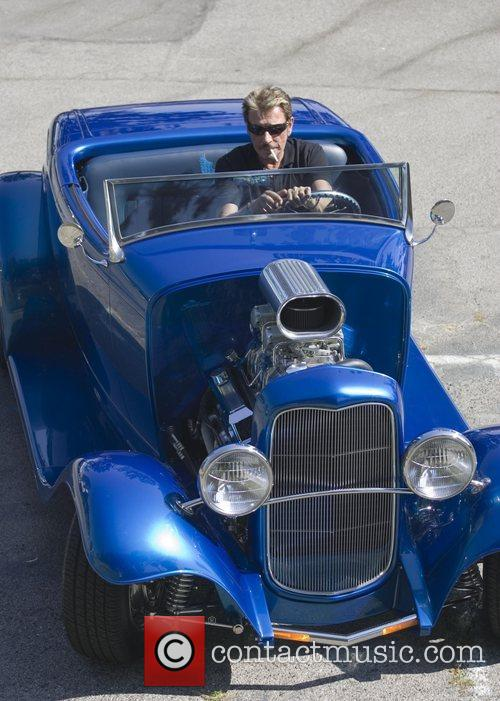 Johnny Hallyday have lunch at Cafe Med in...