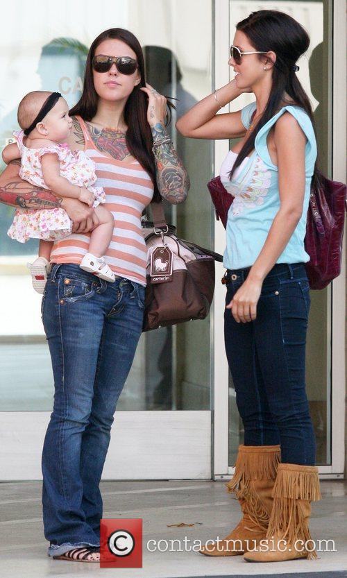 Audrina Patridge visiting a medical centre with her...