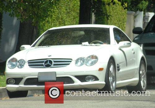 Audrina Patridge receives a parking ticket on her...
