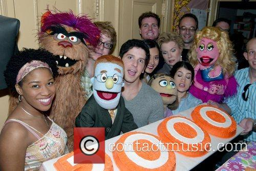The cast of the Broadway musical 'Avenue Q'...
