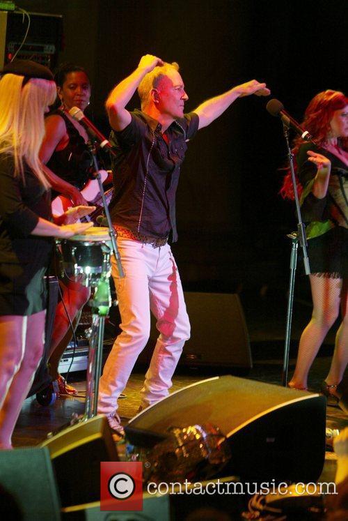 Performing live as part of Pride Week.