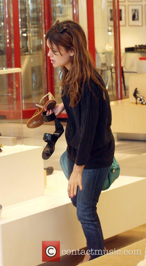 Rachel Bilson shoe shopping at Barneys New York...