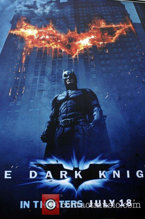 The Dark Knight Poster display at the Arclight...