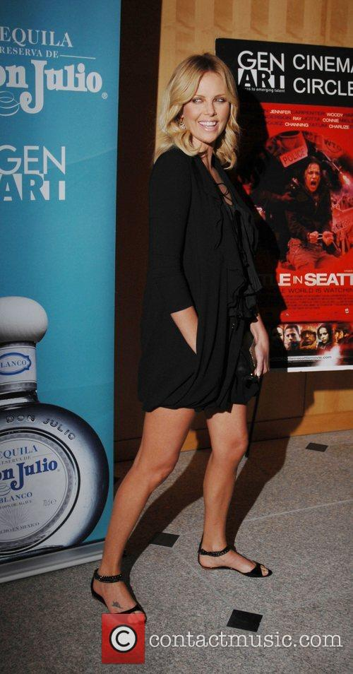 Attends the special screening of 'Battle in Seattle'...