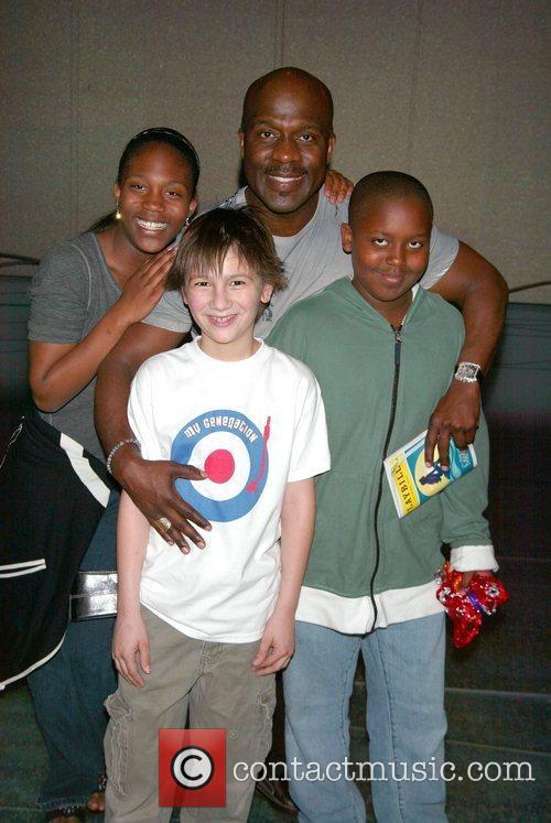 BeBe Winans and his kichildren, Maya Winans and...
