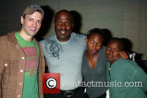 Gospel singer BeBe Winans visits the cast of...