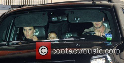 Victoria Beckham, Romeo Beckham and David Beckham 2