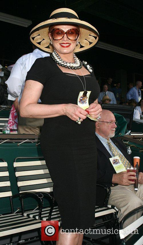 Georgette Mosbacher  Horse Racing at Belmont Park...