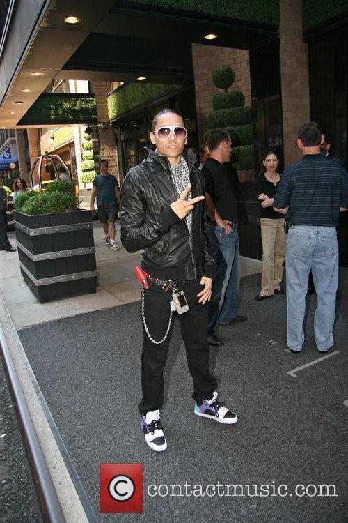 Black Eyed Peas arrives at his Manhattan