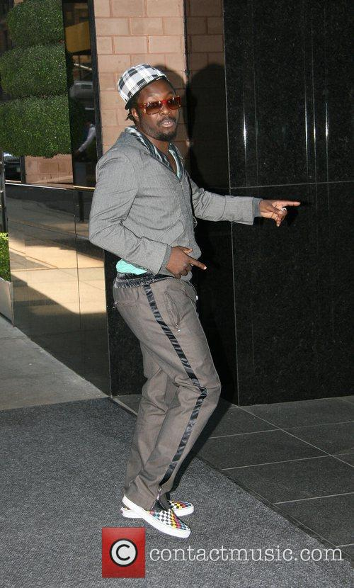 Black Eyed Peas arrives at his Manhattan