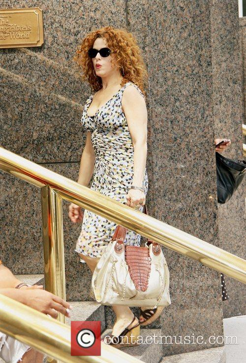 Actress Bernadette Peters spotted out and about in...